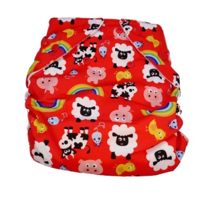 Real Easy Sized Nappy - Farm (7lbs - 18lbs)